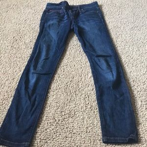 Dark blue low waisted jeans